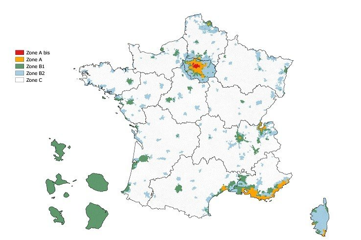 loi pinel immobilier defiscalisation zones geographiques