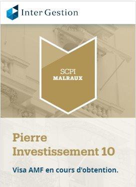 SCPI Malraux Pierre Investissement 10