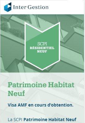 SCPI PInel intergestion patrimoine habitat neuf